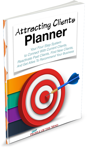 Attracting Clients Planner www.shoppeopleofthemind.com