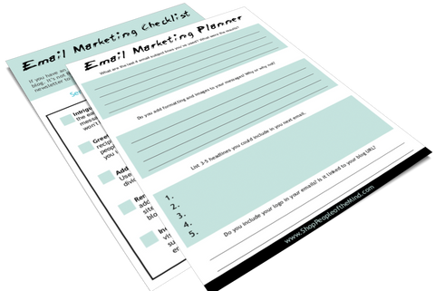email marketing checklist and planner at www.ShopPeopleoftheMind.com