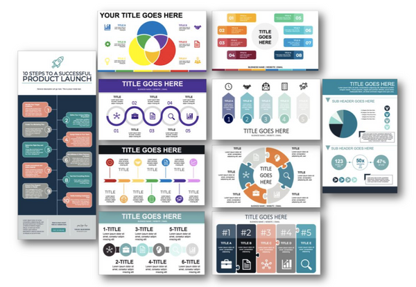 Infographics Planner and 10 powerpoint editable infographic templates at ShopPeopleoftheMind.com