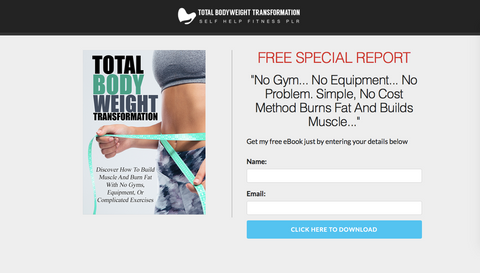 Body Weight Transformation Squeeze Page