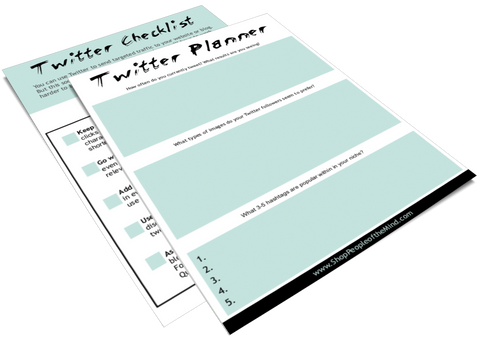 Twitter Checklist and Planner at www. ShopPeopleoftheMind.com