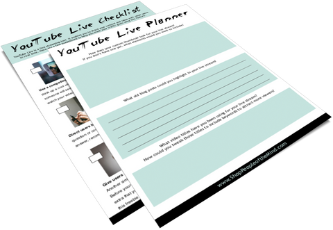 YouTube Live Checklist and Planner at www. ShopPeopleoftheMind.com