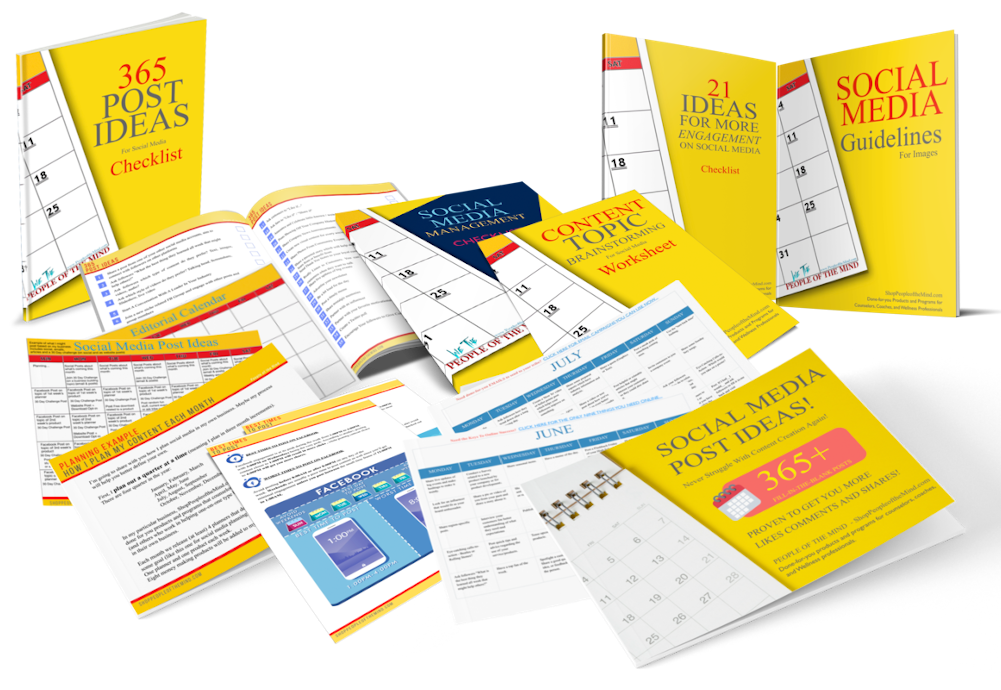 12-Month Editorial and Marketing Calendar Planner Done For You - Shop People Of The Mind
