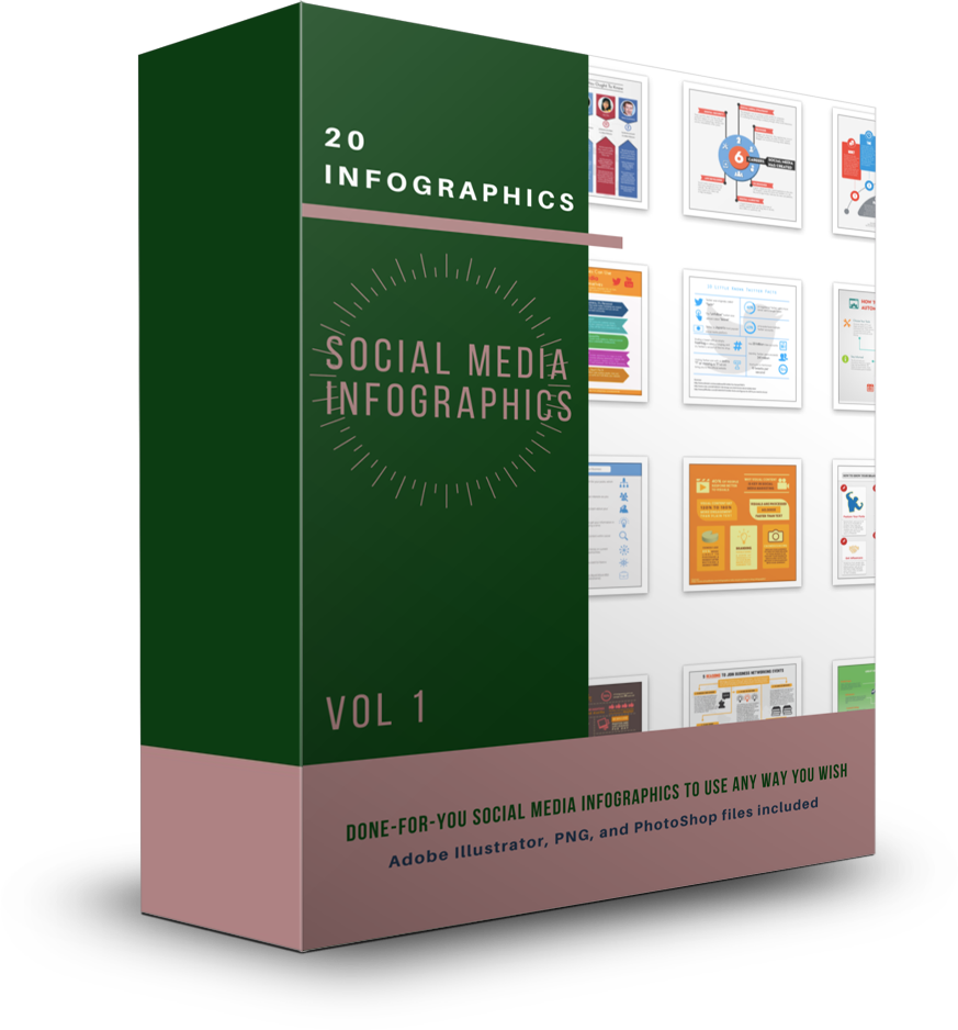 20 Social Media Infographics Vol 1 - Shop People Of The Mind