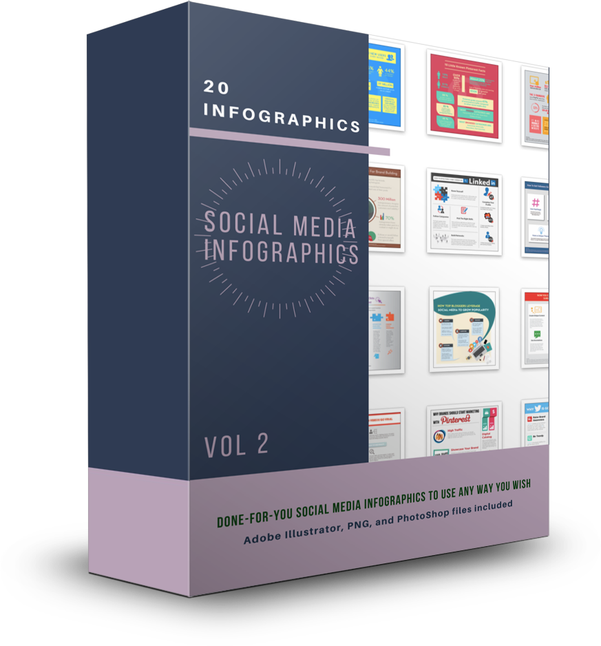 20 Social Media Infographics Vol 2 - Shop People Of The Mind