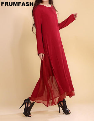 Deep Red Stylish Dress