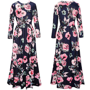 Floral Print Maxi Dress - with pockets!