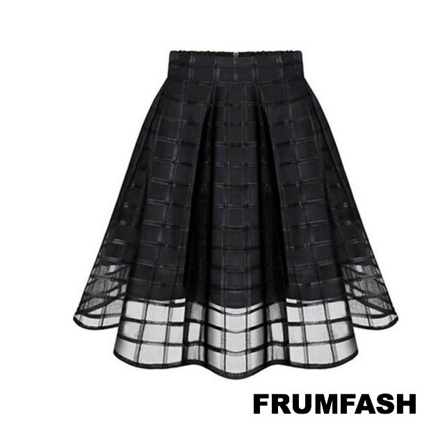 Gorgeous Empire Waist Sheer Tulle Knee Length Skirt