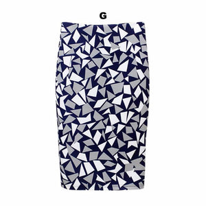 Various Prints Knee Length Pencil Skirt