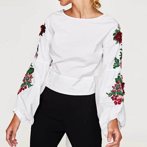 Pretty Floral Sleeve Blouse