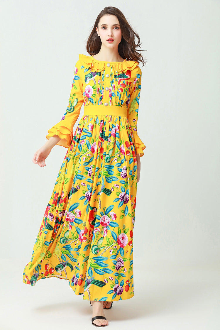 Feminine Peter Pan Colored Dress - Yellow or Light Blue