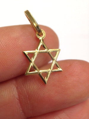 Solid 14K Yellow Gold Star of David