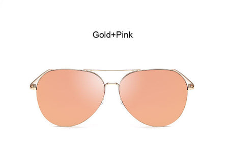 Gold and Pink Aviator Frame Sunglasses
