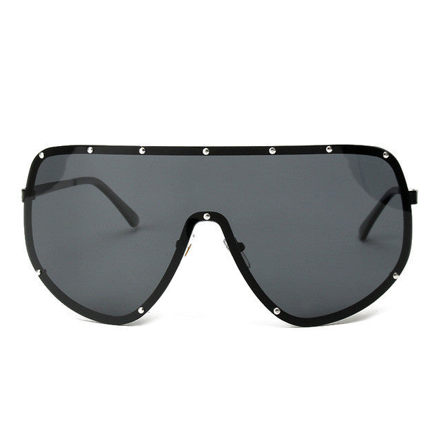 Kim Kardashion shield visor style designer sunglasses