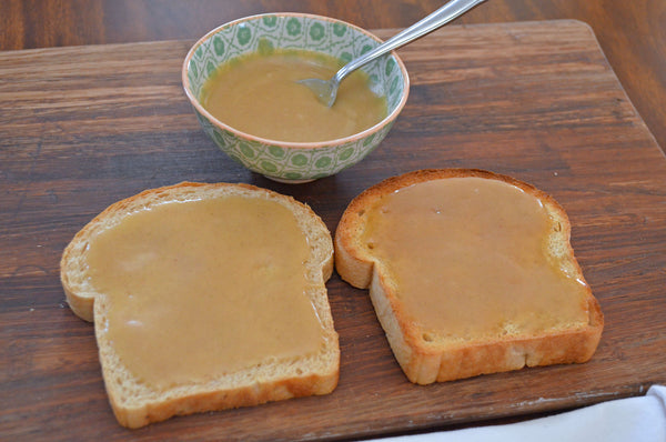 Honey Butter on Bread and Toast