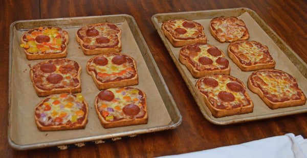Baked Father Time Pizza Toast