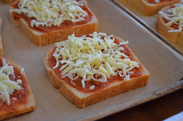 Cheese for Father Time Pizza Toast