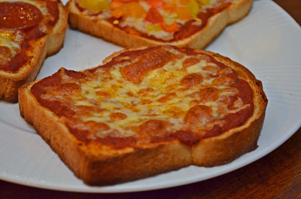 Father Time Pizza Toast Slice