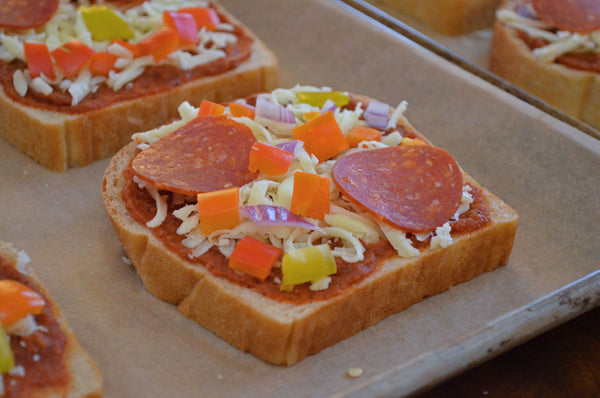 Toppings for Father Time Pizza Toast