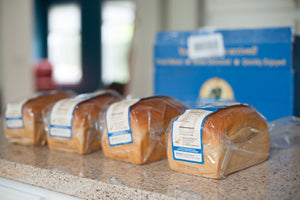 Four loaves of organic bread delivered to your home