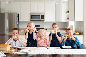 Kids love meals with fresh organic bread