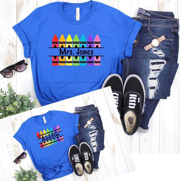 Customizable Crayon Printed Tee