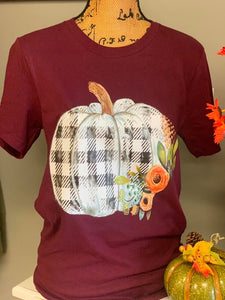 Plaid Pumpkin Sublimation Print
