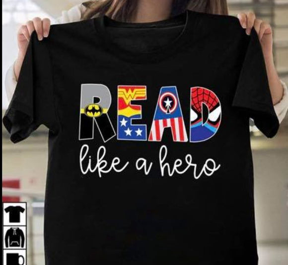 READ Like A Hero Screen Print