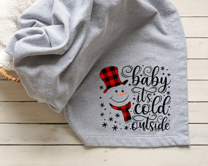 Baby It's Cold Outside Printed Tee Blanket