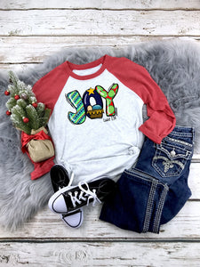 Joy Raglan Printed Tee