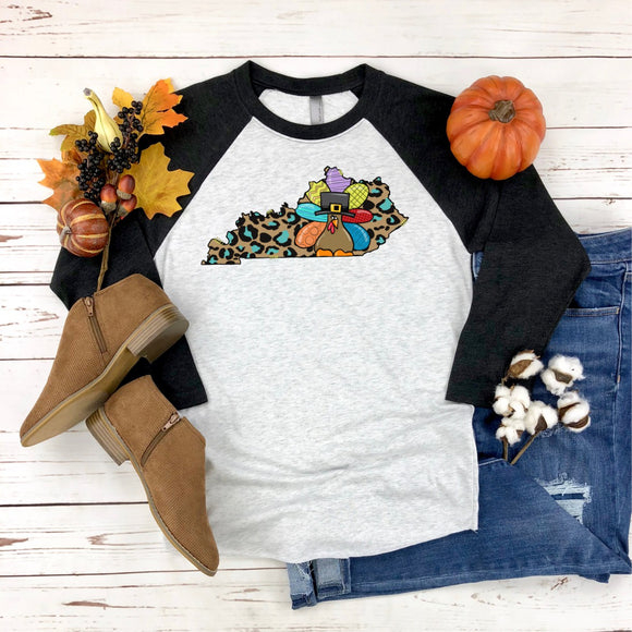 Leopard KY Thanksgiving Turkey Printed Tee