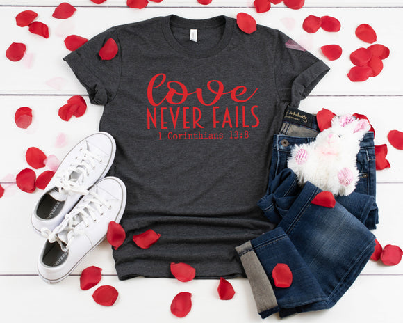 Love Never Fails Screen Print