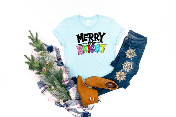 Merry & Bright Printed Tee