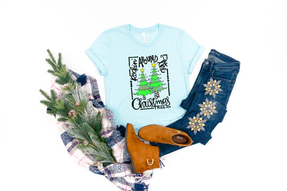 Rockin Around the Christmas Tree Printed Tee