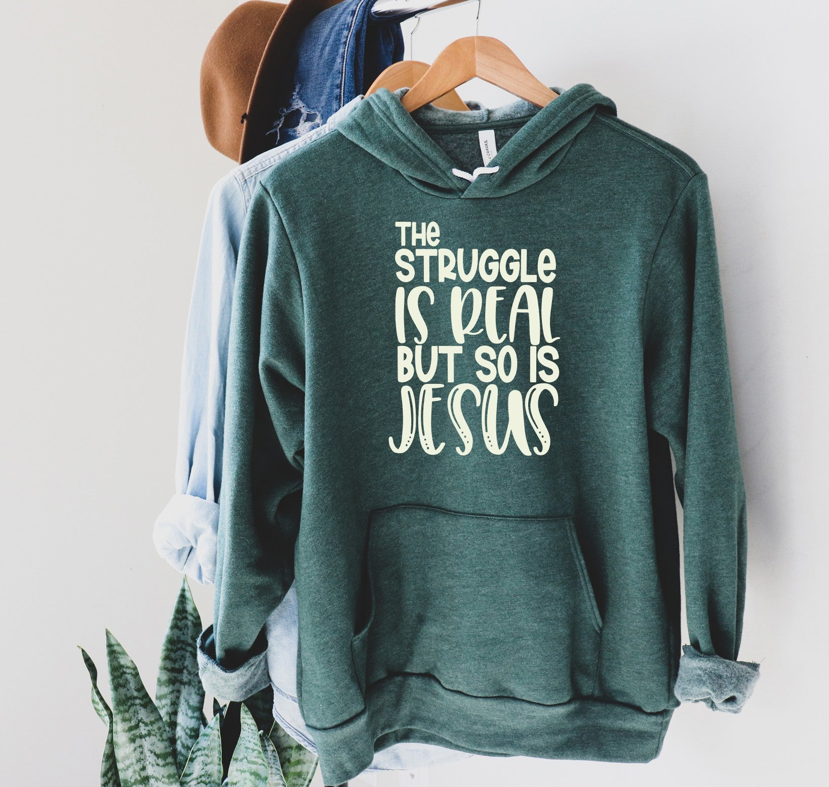The Struggle is Real But So Is Jesus Printed Tee