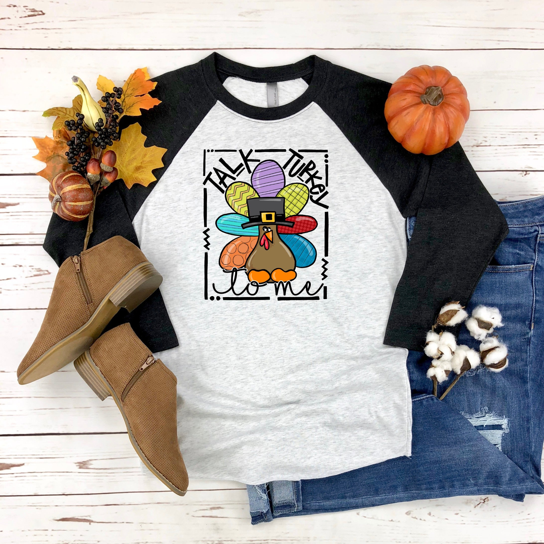 Talk Turkey To Me Printed Tee
