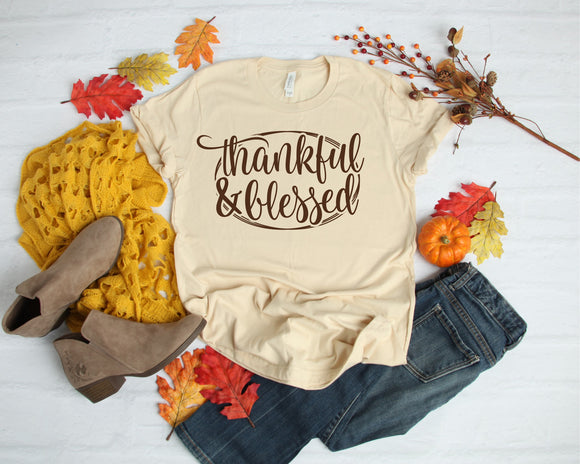 Thankful & Blessed Screen Print
