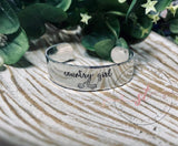 WIDE Hand Stamped Custom Bracelet