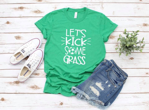 Let's Kick Some Grass Screen Print