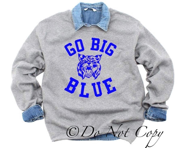 Big Blue Wildcat - Go Big Blue Screen Print
