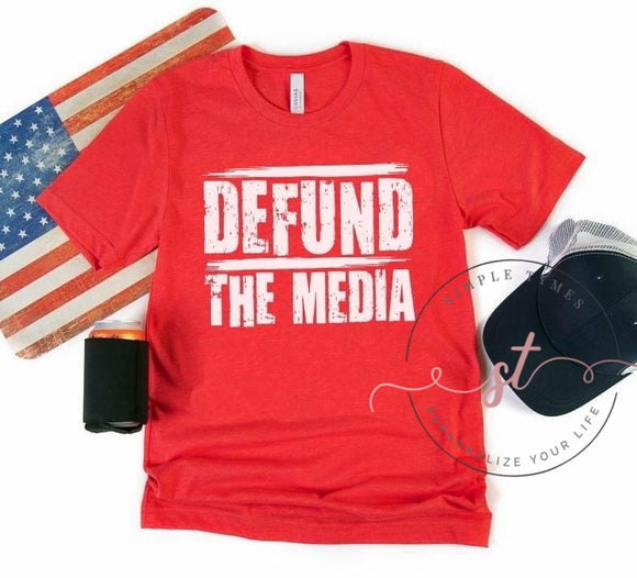 Defund the Media Screen Print