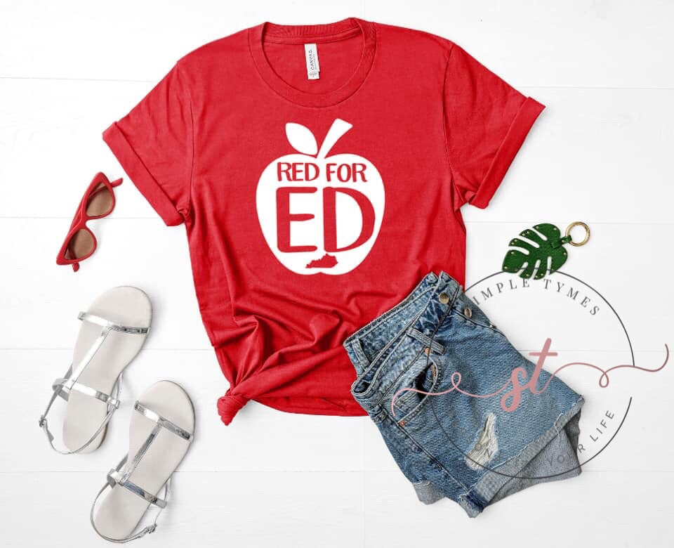 Red for Ed Printed Tee