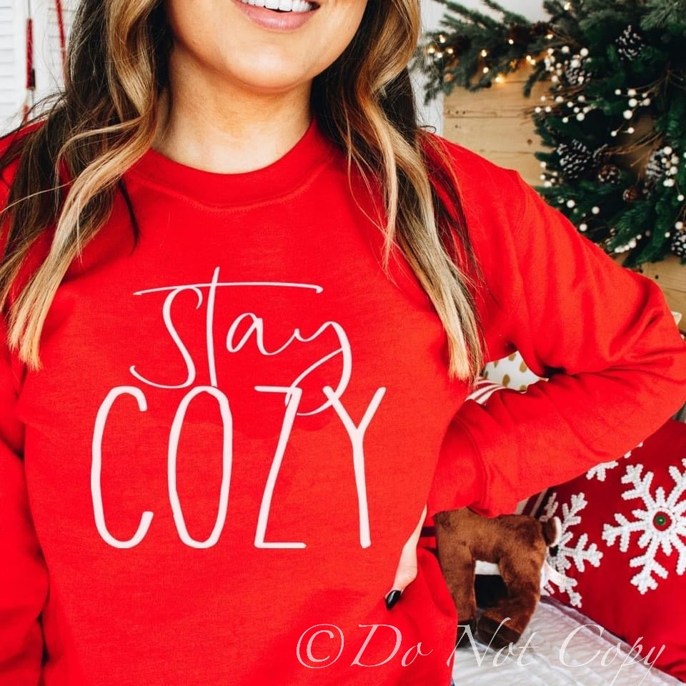 Stay Cozy / FA LA LA Screen Print