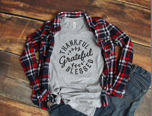 Grateful, Thankful, & Blessed Screen Print