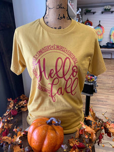 Hello Fall Printed Tee