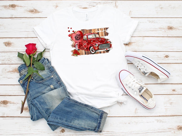 Monogramable Love Truck Sublimation Print
