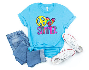 Peace Love Summer Printed Tee