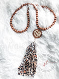 Wholesale Wooden Disc Necklace - Wooden
