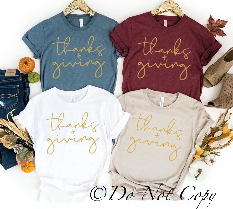 Thanks + giving Printed Tee