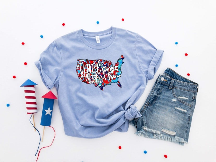 Land of the Free Printed Tee